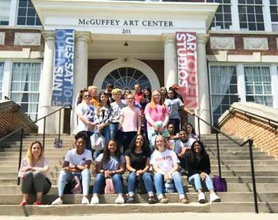 Appomattox Middle School art students