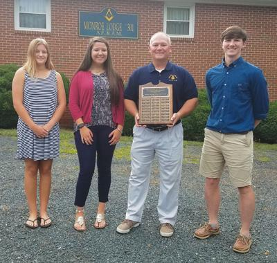 Monroe Lodge No. 301 scholarship recipients