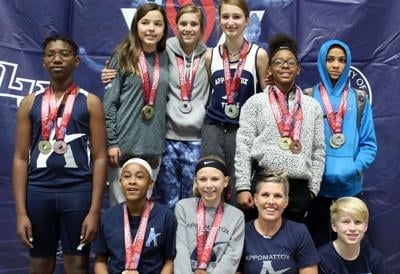 Appomattox Middle School indoor track team earns medals at LU
