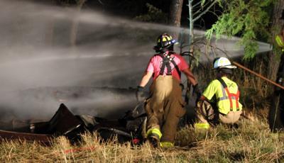 Late night fire destroys Pamplin barn