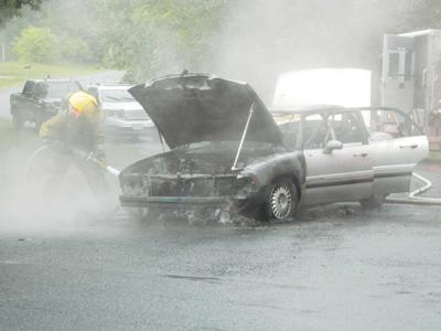 Vehicle fire in Chap