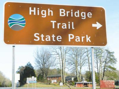 High Bridge Trail State Park sign