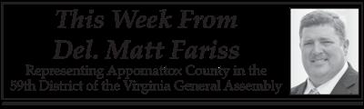 This Week from Delegate Matt Fariss