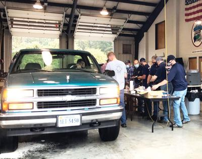 Firefighters serve up barbecue