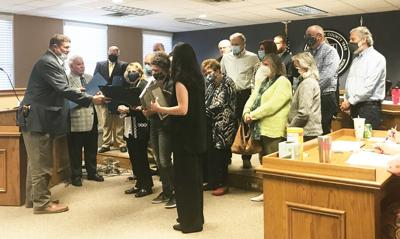 Harvey honored by county, state: County board, state delegates give resolutions