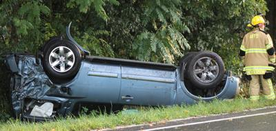 SUV overturns in Spout Spring