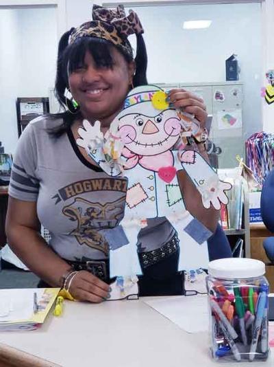 Library employee Makayla