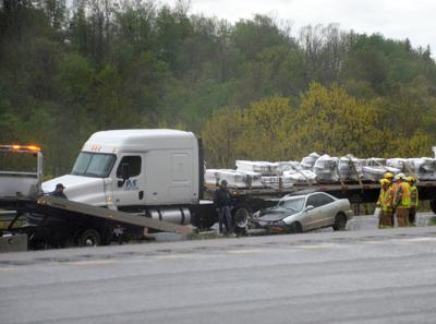Sedan, tractor trailor involved in I-79 accident   News