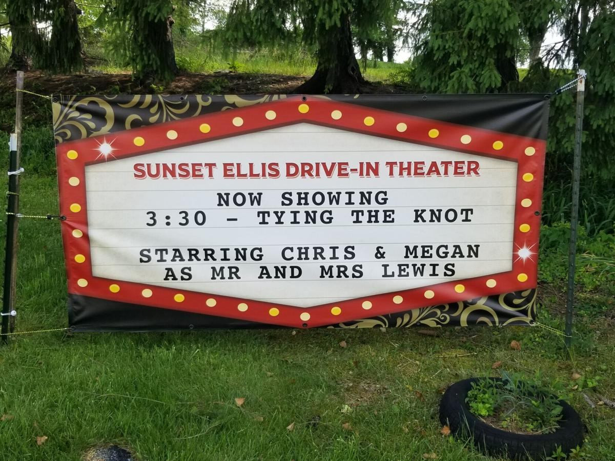 Drive-in theater hosts its first wedding
