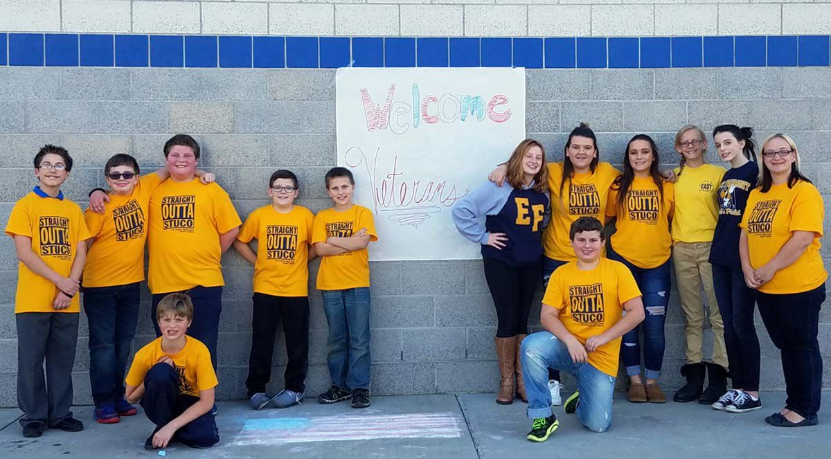 Members of the East Fairmont Middle School