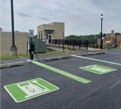 EV charging stations at Fairmont State