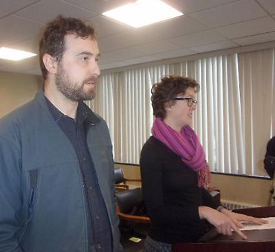 Owen Mulkeen and Sara Cottingham