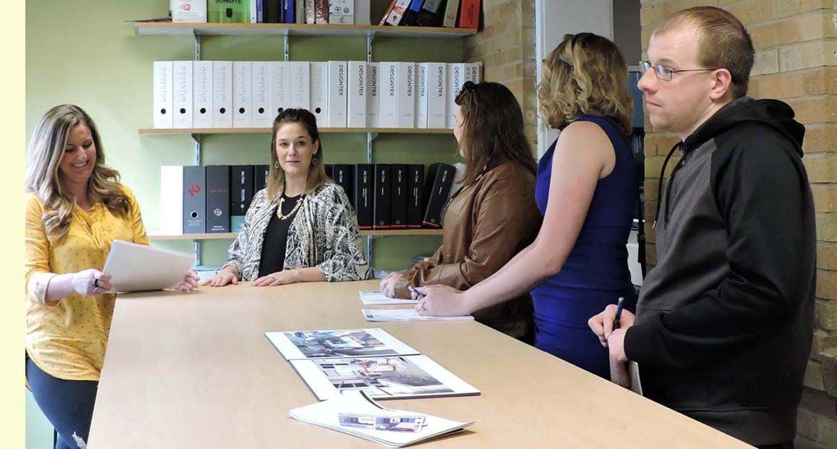 Pierpont interior design students tour experience Omni facility