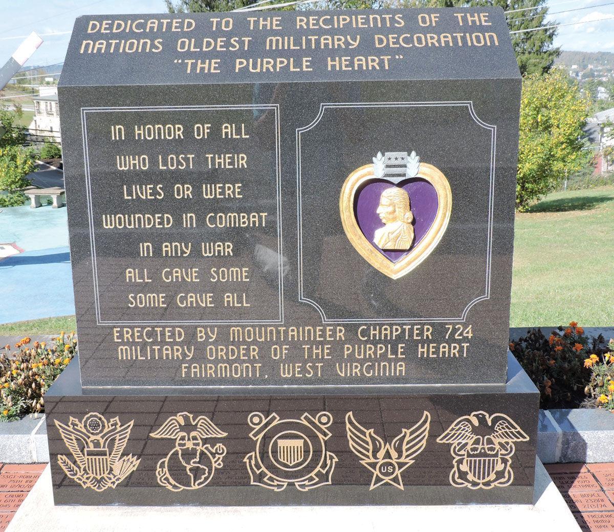 Memorial Plaque 10 x 10 American Purpleheart