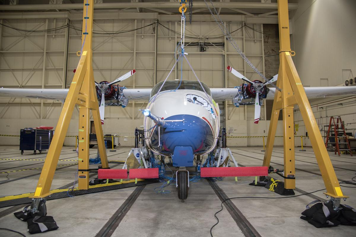 X-57 Preps for Ground Vibration Testing in Mod 2 Configuration