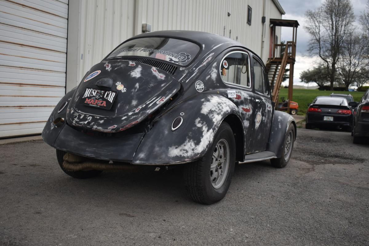 Rear view of Stiles' '68 Beetle