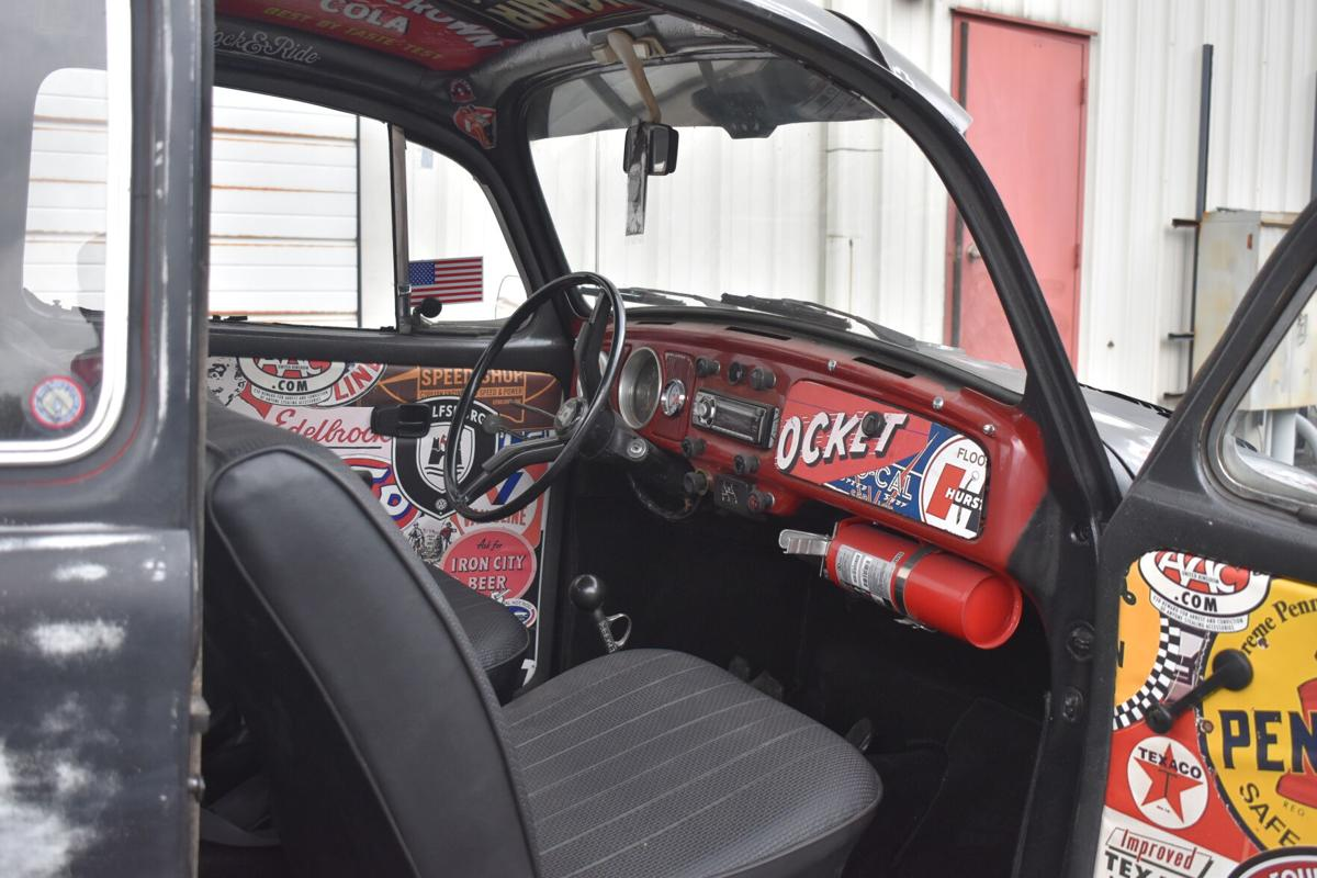 The car's interior