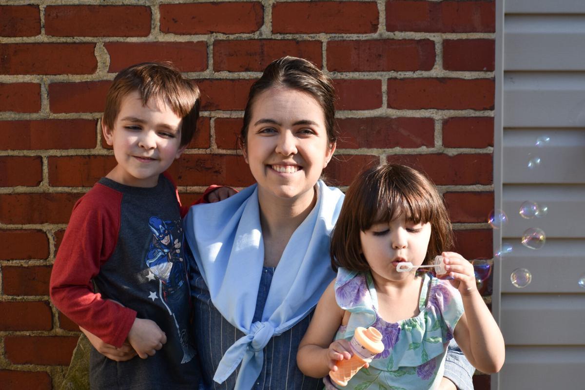 Rachel Ellis and her kids