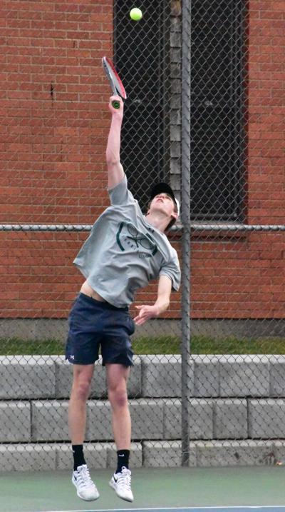 Poirier serves ball