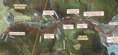 Conceptual plan for Marsh Creek Greenway