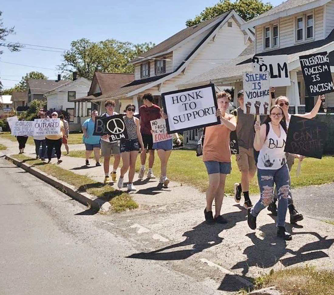 Black lives matter march in Elkland