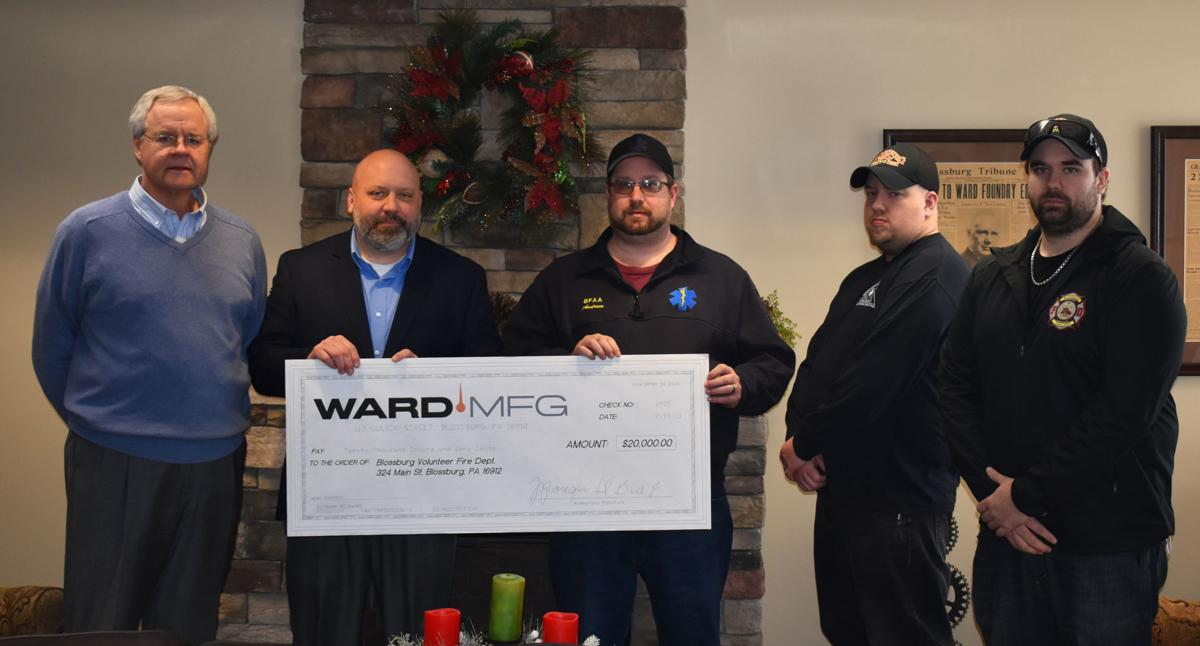 Ward donates to Blossburg Fire Department