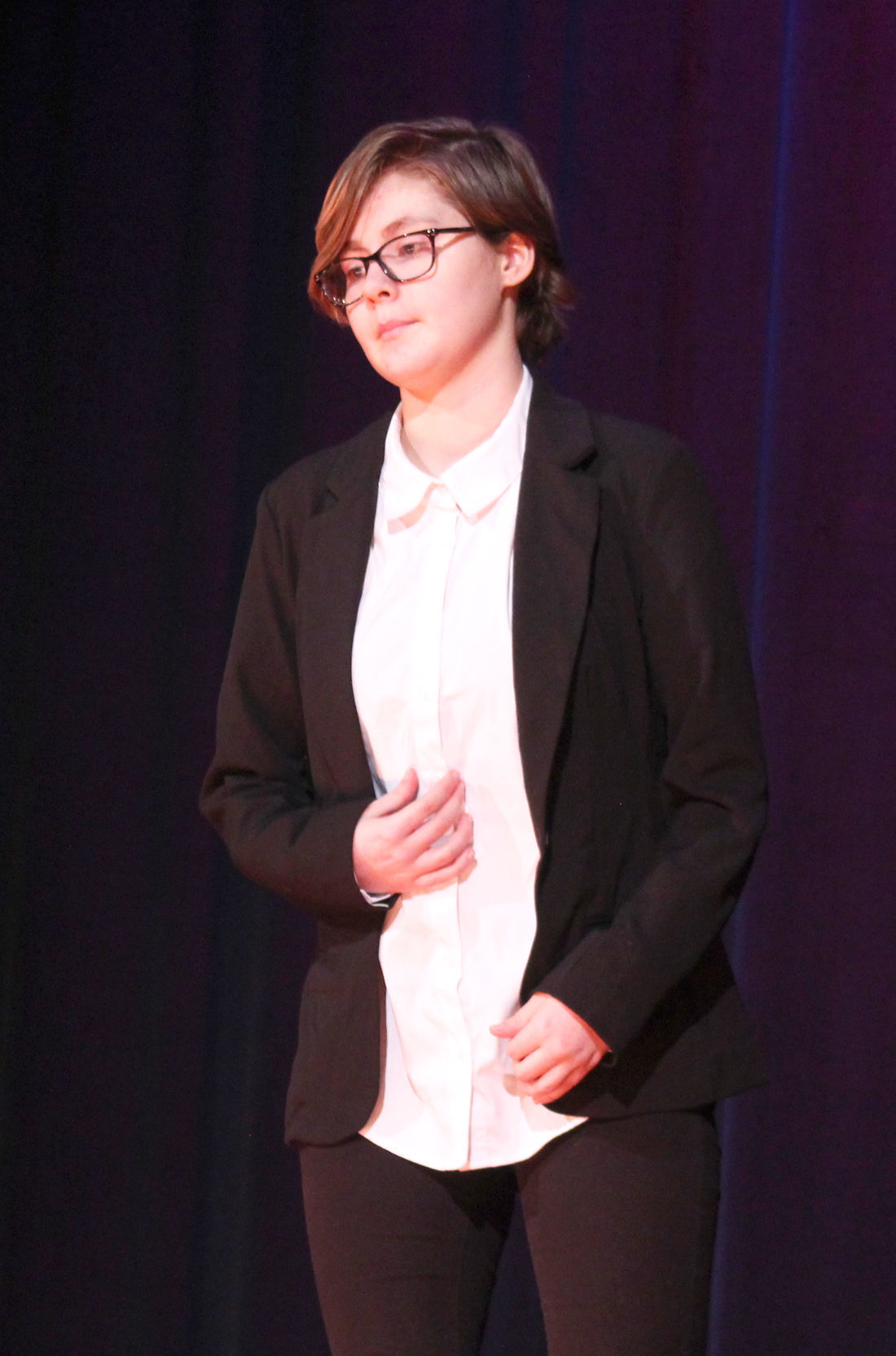 Arika Woodward competes at Poetry Out Loud in Towanda