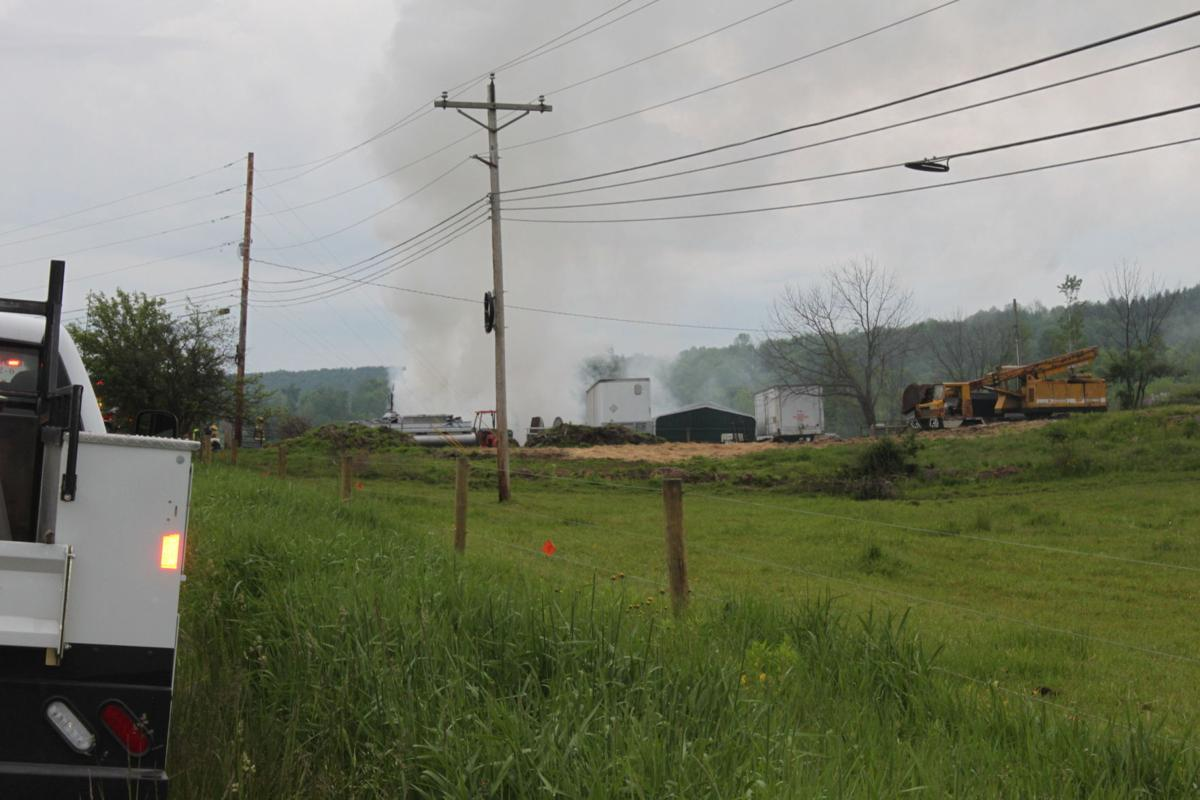 Multiple fire departments dispatched to smoky blaze