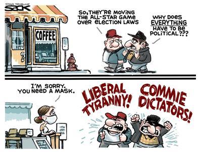 Editorial Cartoon, April 15, 2021