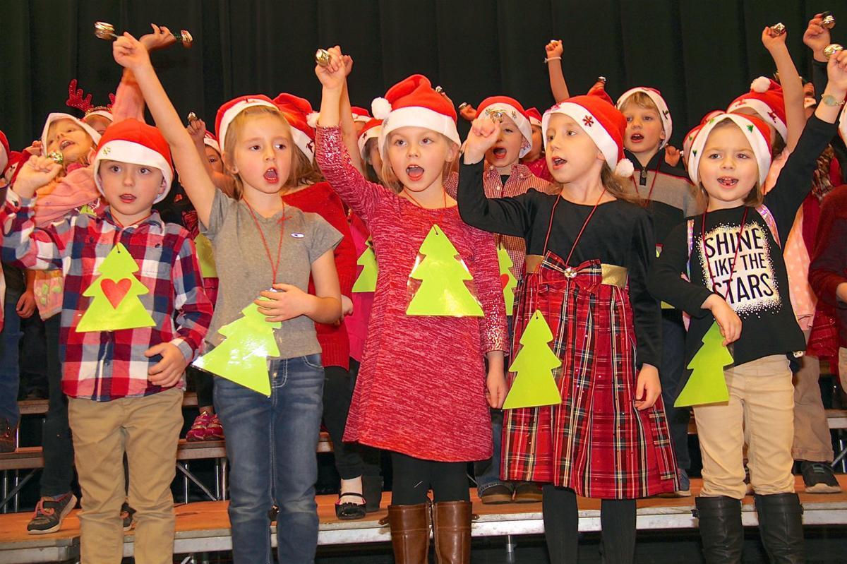 Kindergartners hold Festival of Lights