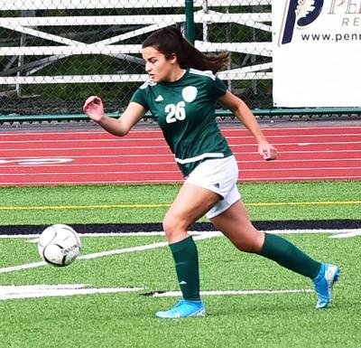 Sara Abadi controls ball for Wellsboro