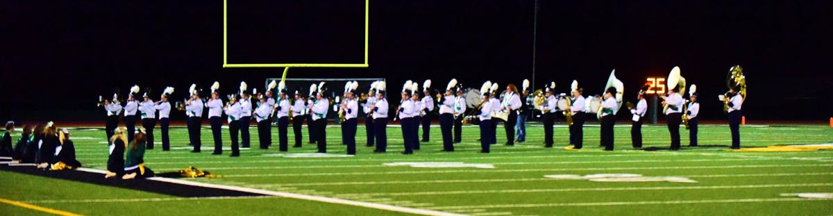 Bands join foces at game