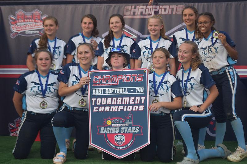 Elmira Fury 14U softball fastpitch team wins Rising Stars 14U Championship