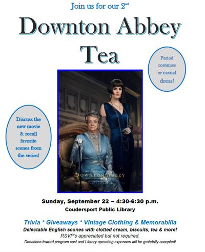 Downton Abbey Tea flier