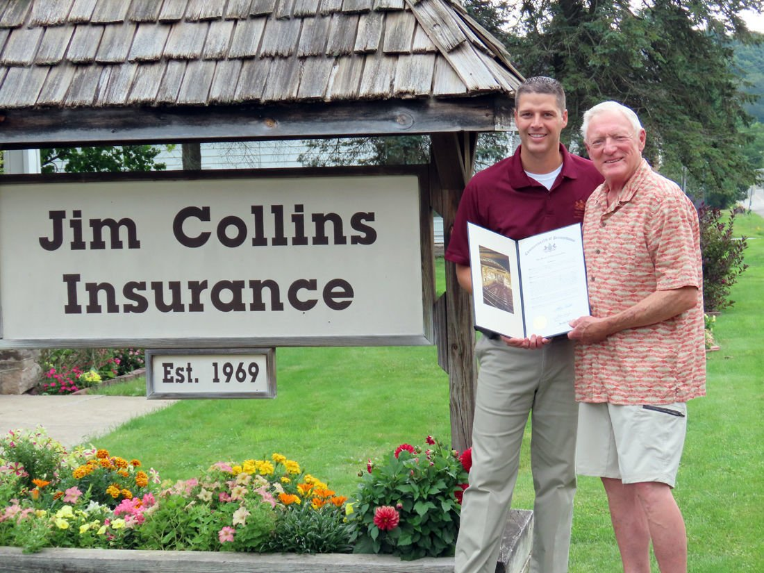 Collins recognized for 50 years in business