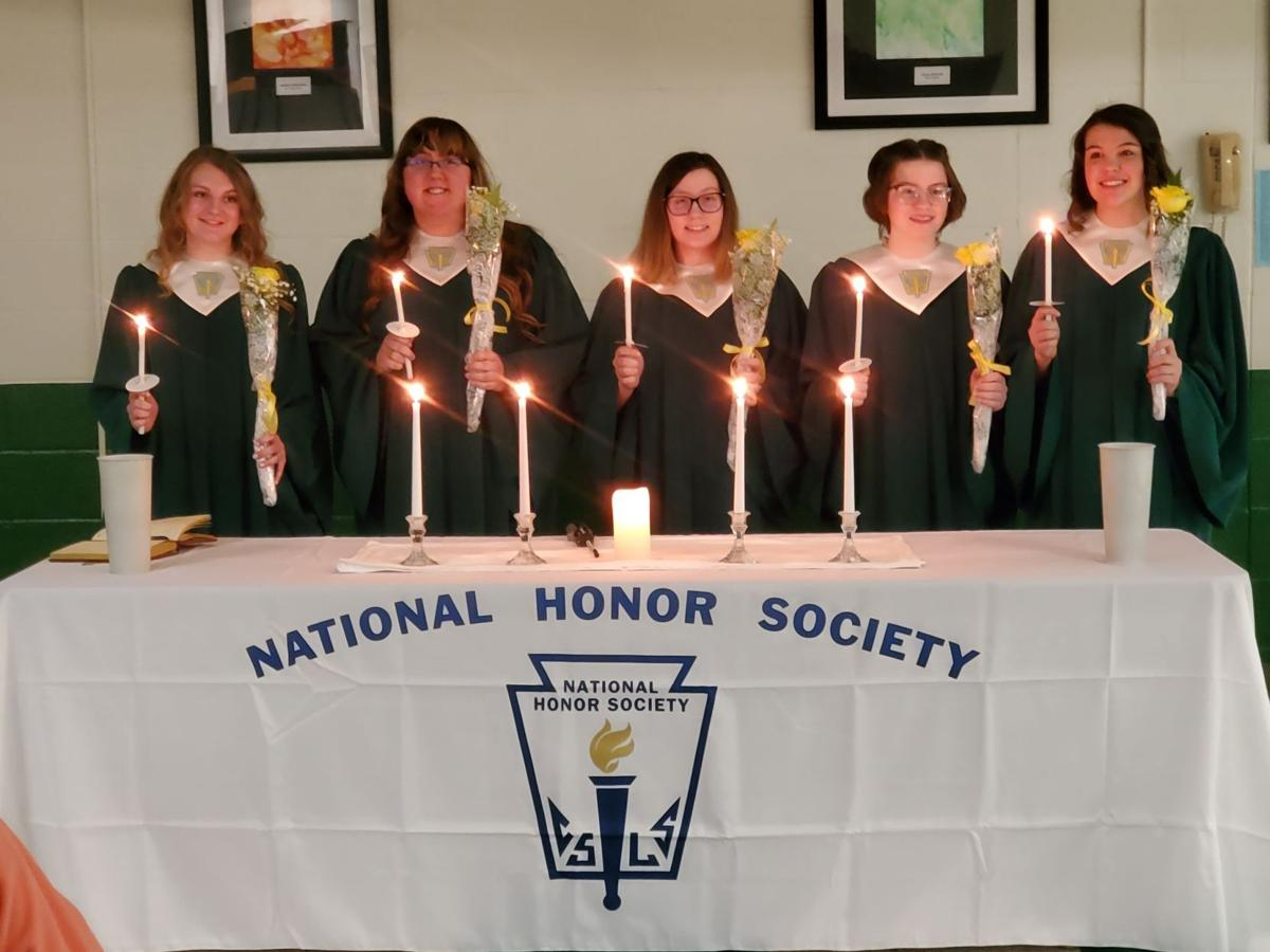Oswayo Valley NHS inducts five