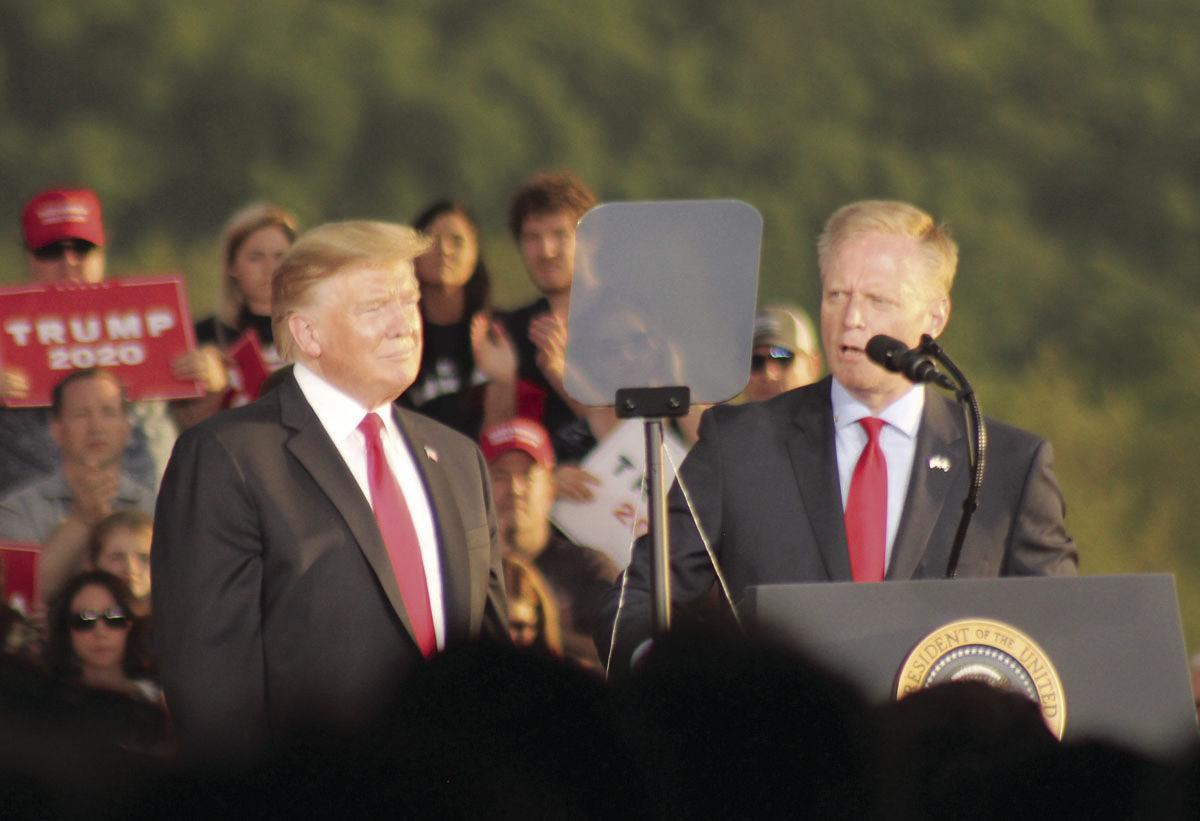 Fred Keller with Donald Trump