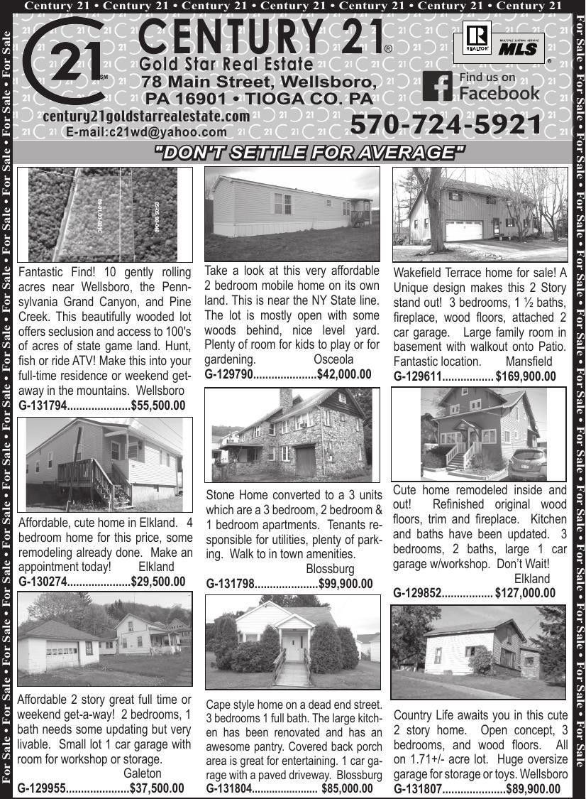 Century21 New Top 8-30-18 pdf | Wellsboro Gazette | tiogapublishing com