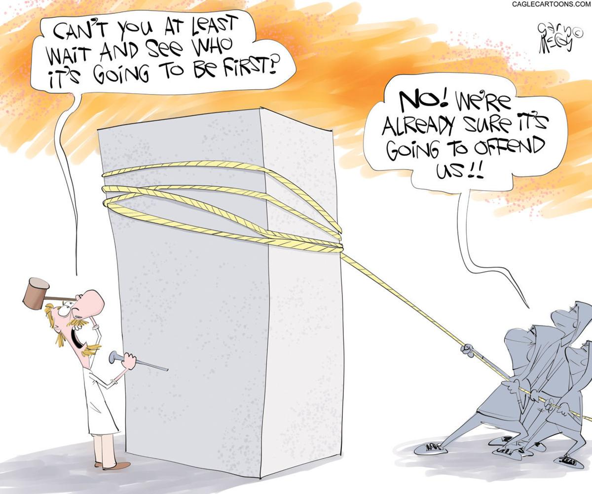 Editorial cartoon, July 2