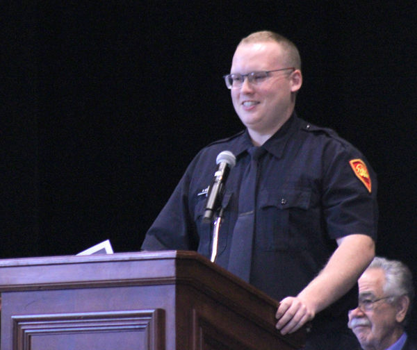 Ian Creech highlights teamwork in address to 2019 police academy class