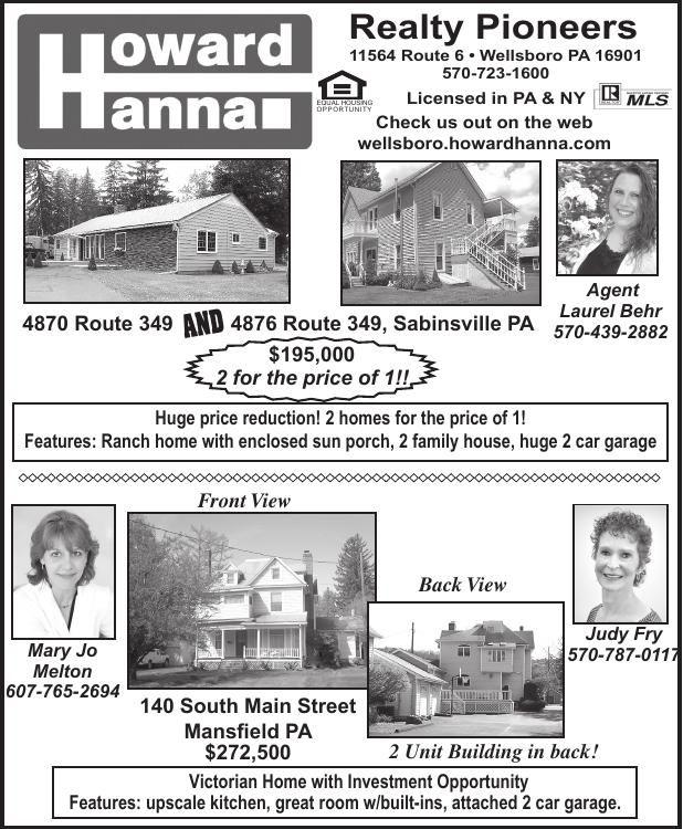 Howard Hanna Open House 3x5 5 3 18 Pdf Wellsboro Gazette
