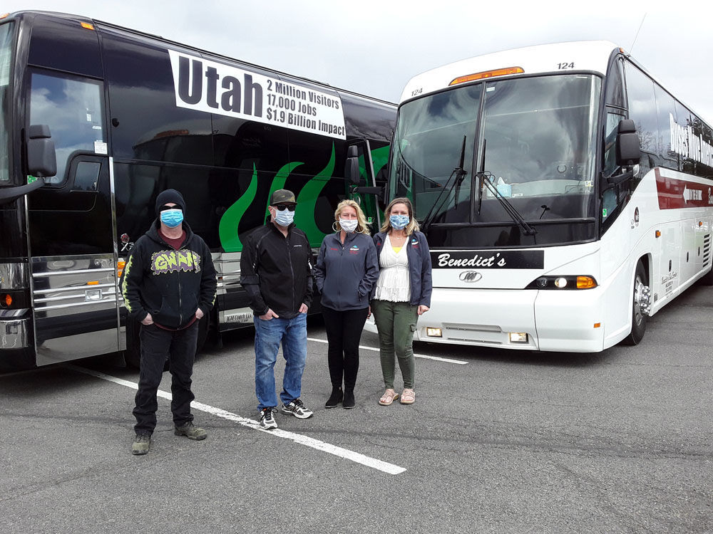 Motorcoaches rally for support