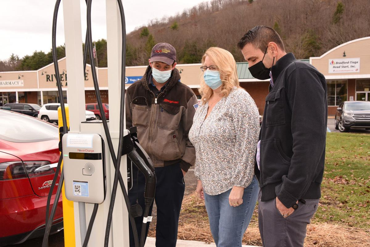 EV charging station opens in Bloss