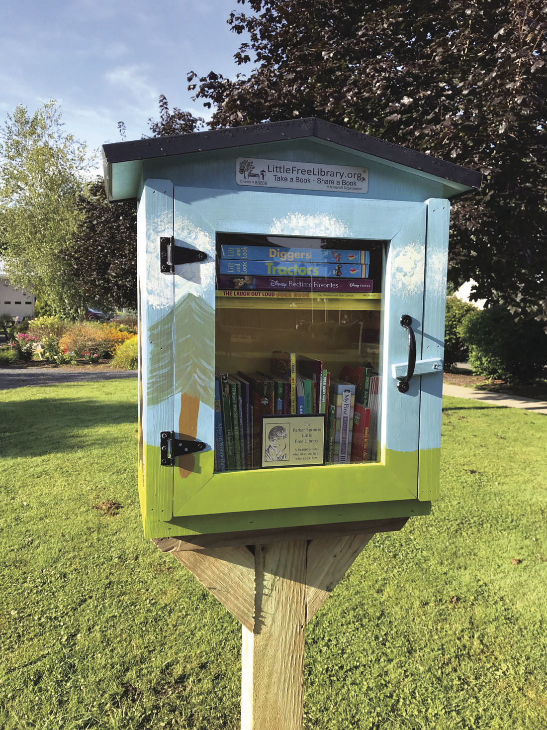 Little Free Library is at arboretum