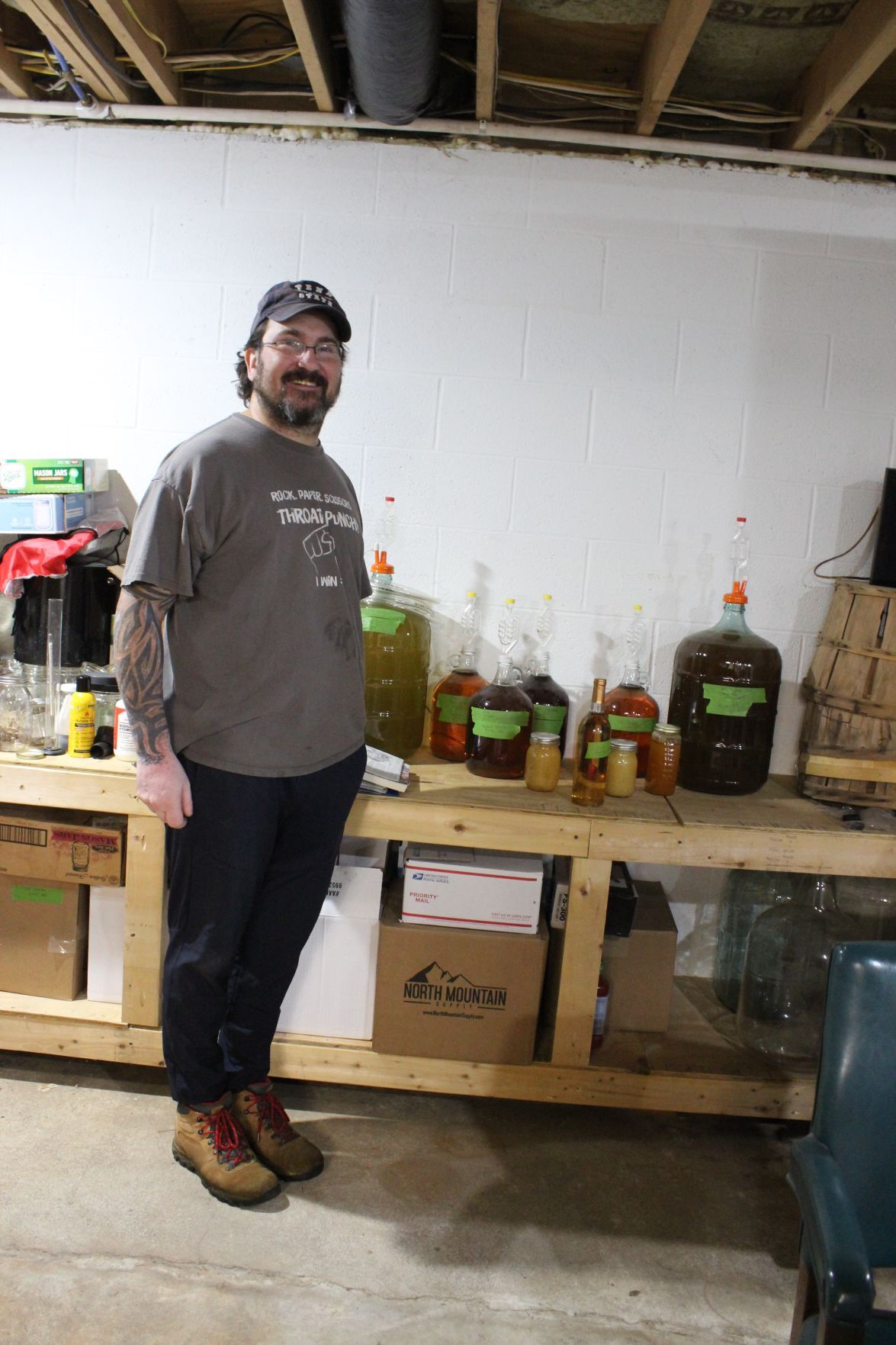 David Pettit produces mead from his bee's wax cappings