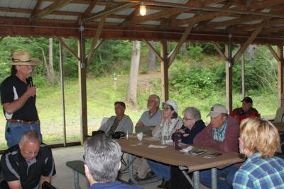 Mill Cove 2018 meeting of volunteers at the pavilion photo