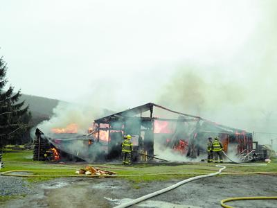 Fire claims barn on Cherry Flats Road