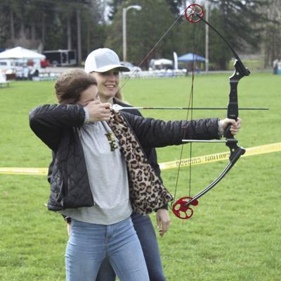 Olivia Jackson shooting the bow