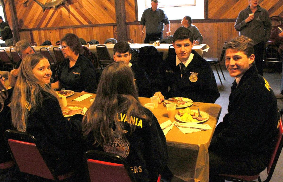 Headwaters Chapter FFA at the Farmers Breakfast