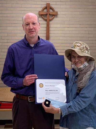 Dawn Pletcher recognized with Paul Harris Fellow Award